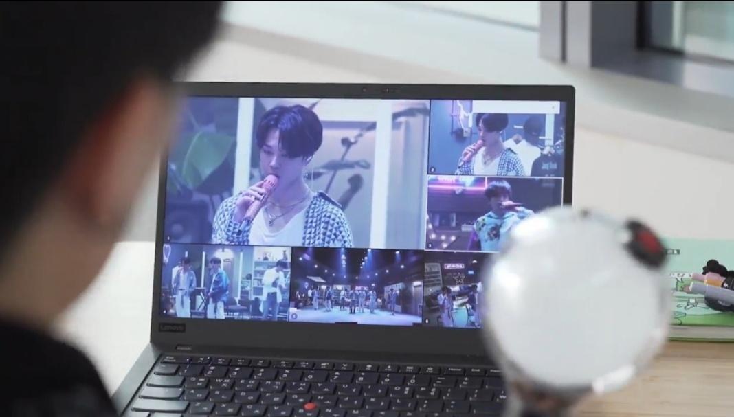 BTS는 지난 6월 온라인콘서트 '방방콘 The Live'를 멀티뷰 라이브 스트리밍으로 진행했다. [사진=위버스]